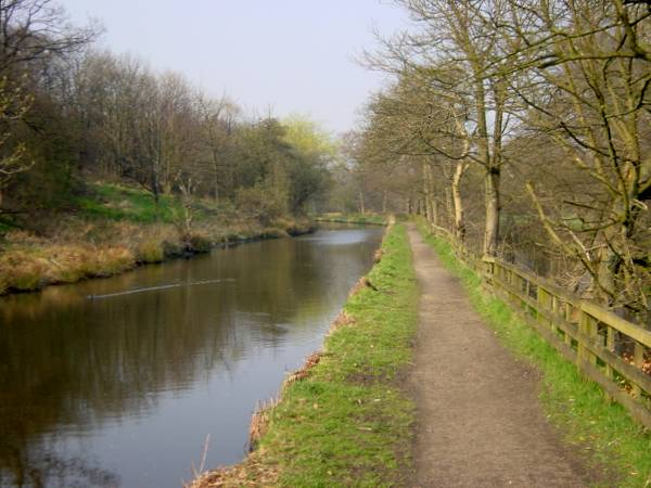alongside the River Tame, Huddersfield Narrow Canal, Uppermill, Saddleworth
