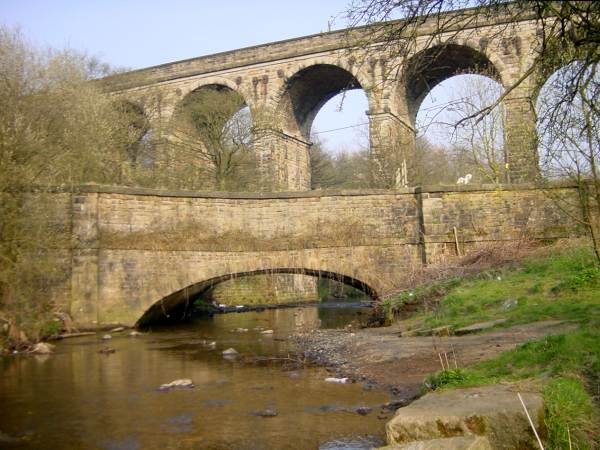 Old Sag Aqueduct, Huddersfield Narrow Canal, Mossley