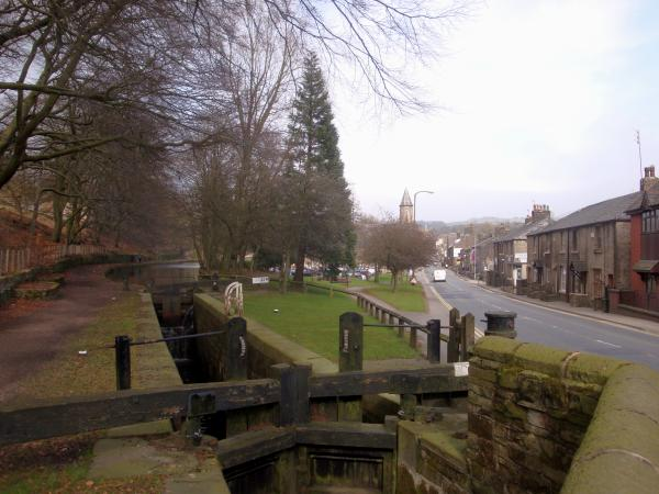 Wade Lock, Huddersfield Narrow Canal, Uppermill, Saddleworth