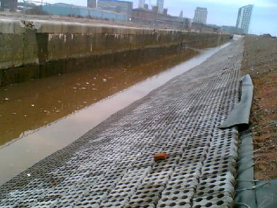Trafalgar Dock channel. Photo: Charlie Edge, with thanks to P.P. O'Connor Ltd