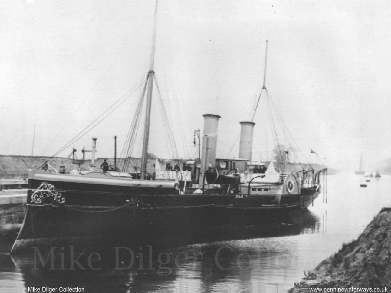 Royal Yacht Enchantress at Eastham - photo: Mike Dilger Collection