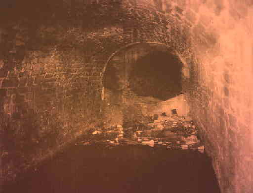 Standedge tunnel roof fall. Photo: Ken Wright.