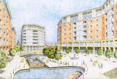 Artist Impression of Middlewood Locks development - Picture: British Waterways