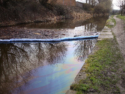 oil on the surface near Dukinfield