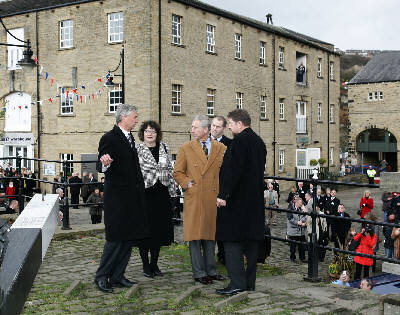 Prince Charles at Sowerby Bridge Photo: BW