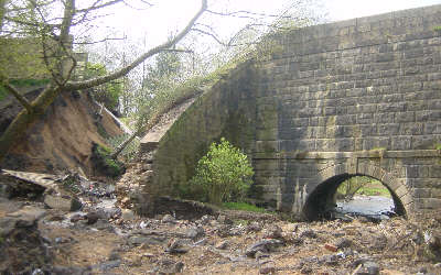 Rochdale Canal Breach, Irk Aqueduct - Photo: Pennine Waterways