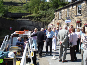 The engineers after their trip into Standedge Tunnel